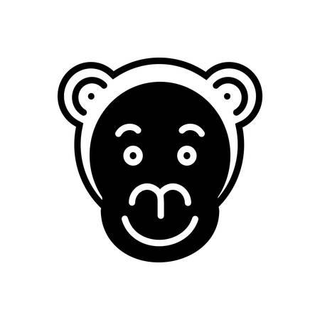 Icon for monkey ,face Ilustracja