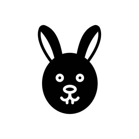 Icon for rabbit ,conejo Ilustracja
