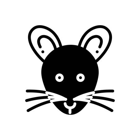 Icon for rat ,mouse Ilustracja
