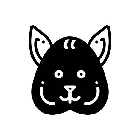 Icon for squirrel, autumn Ilustracja