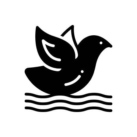 Icon for bird ,warter Ilustracja
