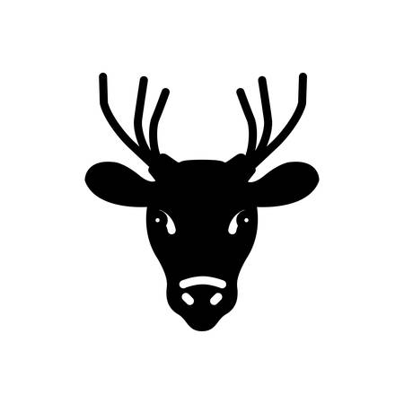 Icon for deer ,animal Ilustracja