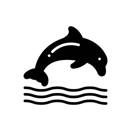 Icon for dolphin ,jumping Ilustracja