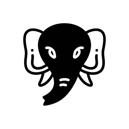 Icon for elephant ,face