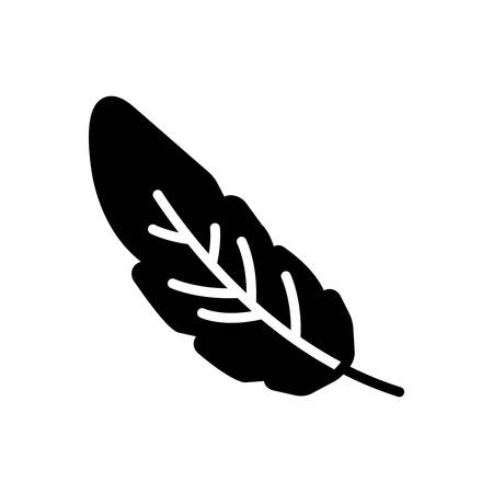 Icon for feather, light