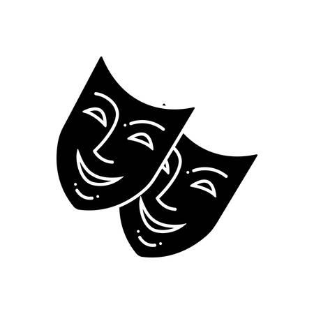 Mask icon Illustration