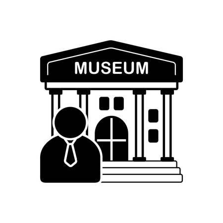Museum guide  icon Çizim