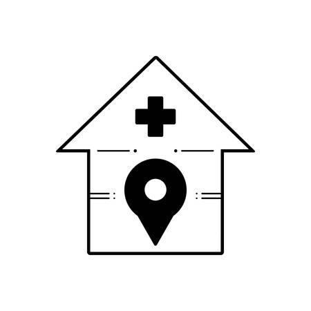 Hospital location icon Çizim