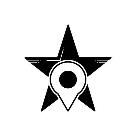 Starred location icon Ilustração