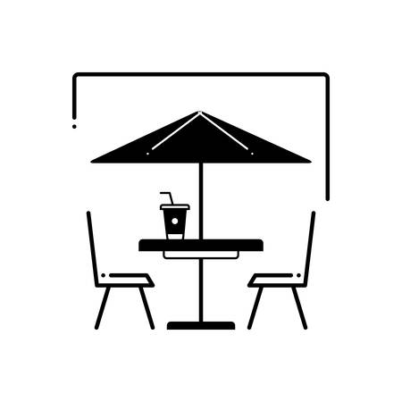 Outdoor cafe icon
