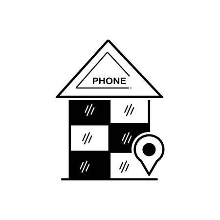 Phone booth icon Çizim