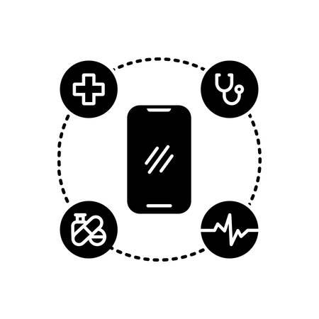 Mobile healthcare icon