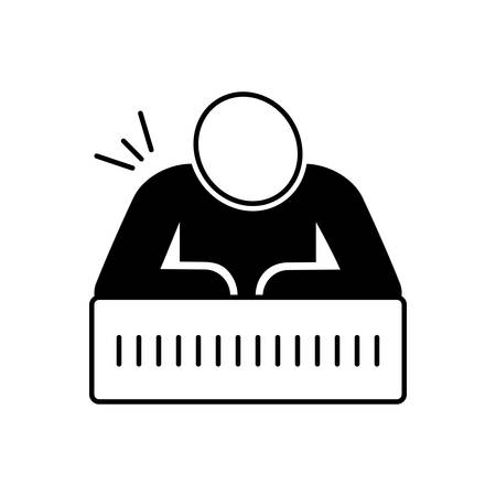 Chronic pain icon Vector Illustration
