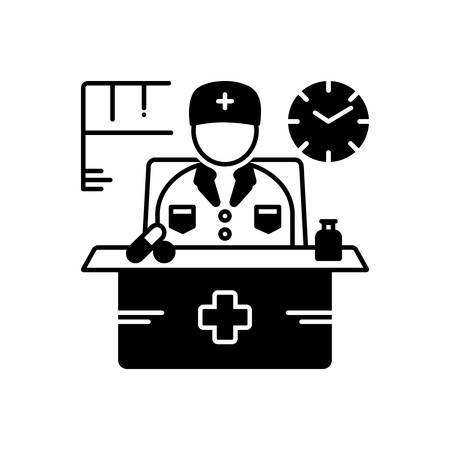 Doctor on duty icon