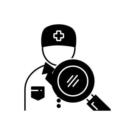 Search doctor icon Illusztráció
