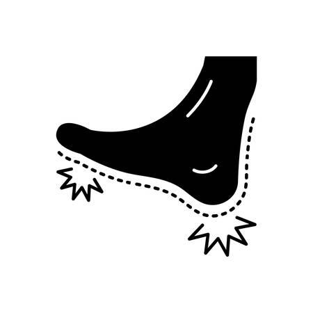 Foot pain icon Ilustrace