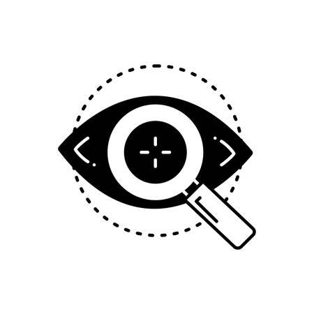 Eye test icon 向量圖像
