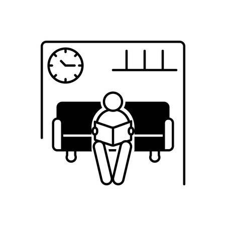 Waiting room icon 向量圖像