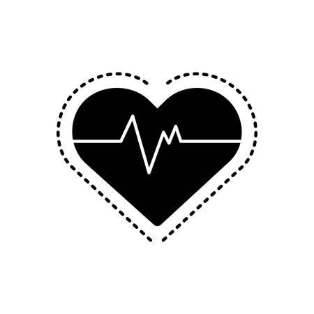 Heart pulse icon 向量圖像