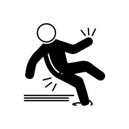 Slip accident icon