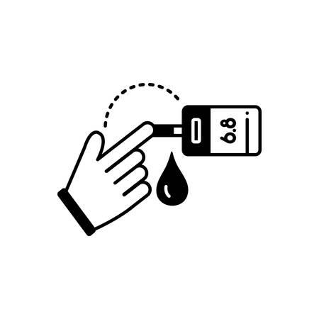 Blood sugar test icon 向量圖像