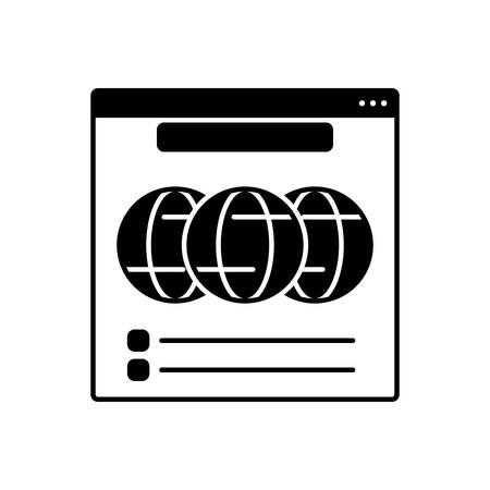 Web  icon 向量圖像