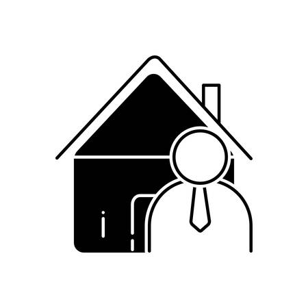 Real estate agent icon 向量圖像