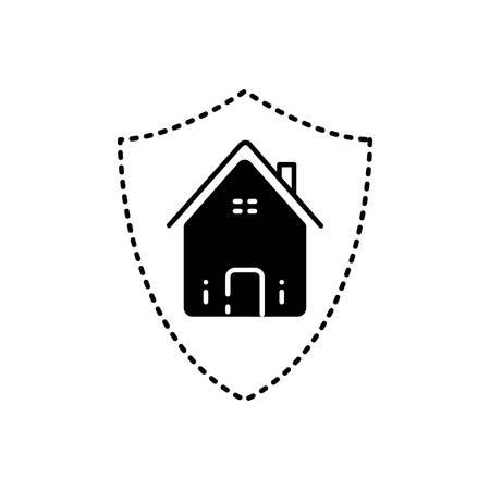 Home insurance icon Ilustração