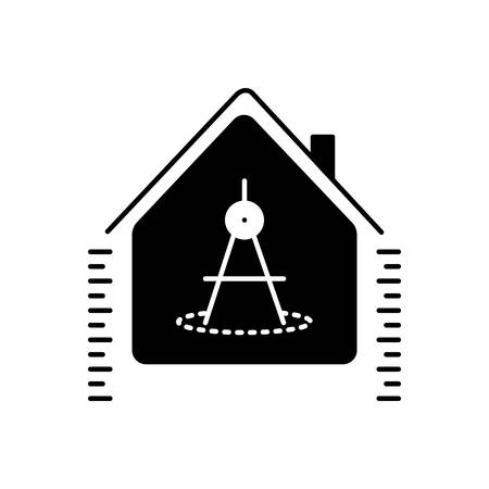 House measurement icon Ilustração
