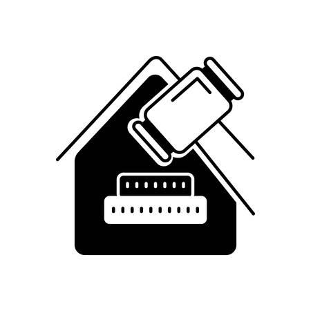 Real estate law icon