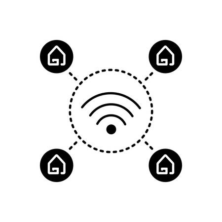 Wifi home icon 向量圖像