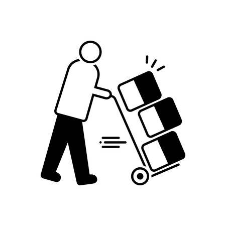 Moving services icon 向量圖像