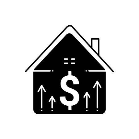 Mortgage price icon 向量圖像