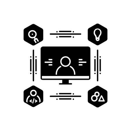 Icon for user,centered,design