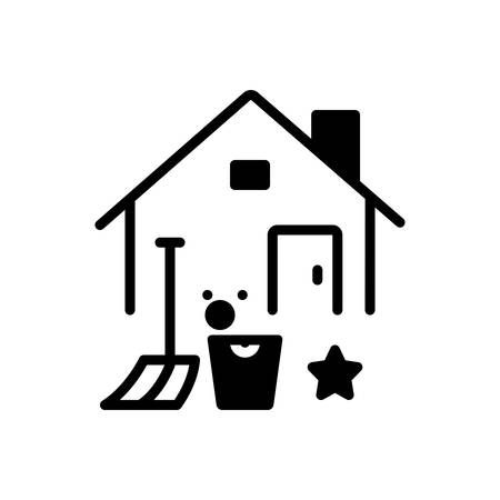 Icon for home, cleaning