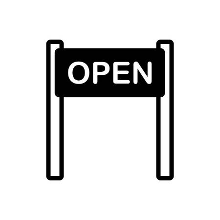 Icon for open sign,  open