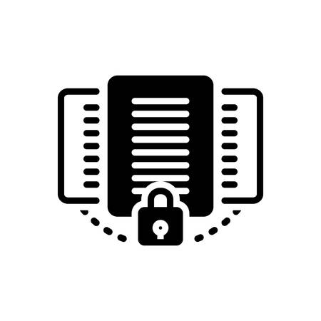 Icon for document,protection