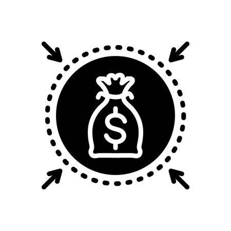 Icon for money,protection Stock Illustratie