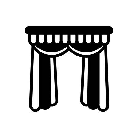 Icon for curtains,veiling Illustration