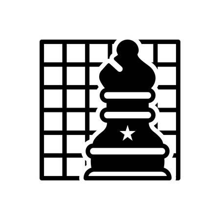Symbol für Schach, Schachbrett