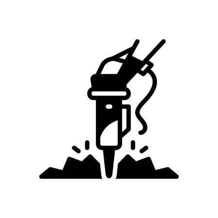 Icon for rock ,breaker