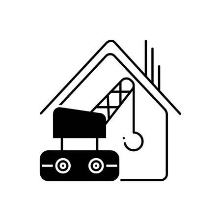 Construction services  icon Stok Fotoğraf - 136040139