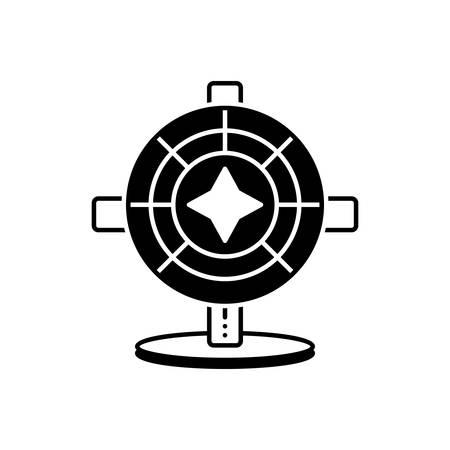 Icon for big six wheel,entertainment
