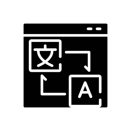 Icon for translation,localization Banque d'images - 136438478