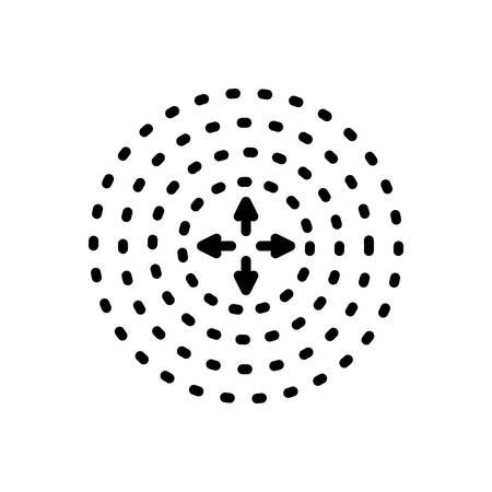 Icon for diffusion,spreading