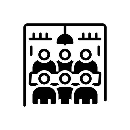 Icon for Meeting room,hall Ilustracja