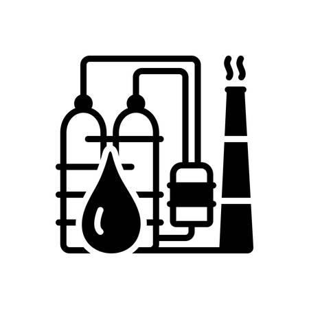 Symbol für Petrochemie, Raffinerie