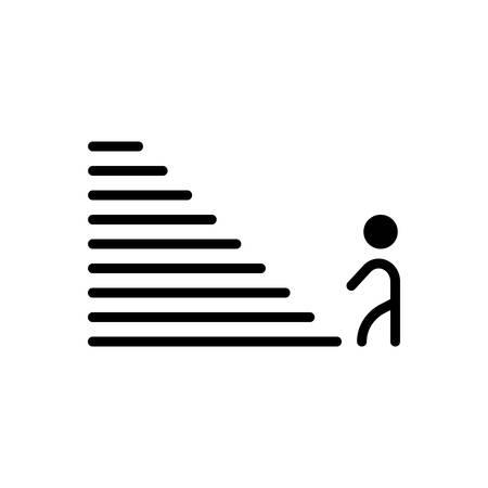 Icon for Step,climb 向量圖像