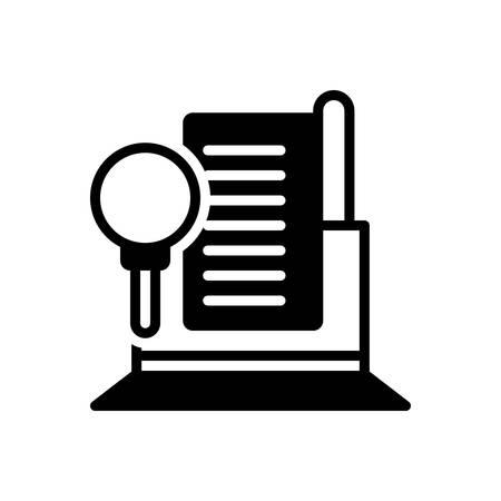 Icon for Audit,finance Ilustracja