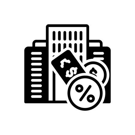 Icon for Taxation,finance Иллюстрация